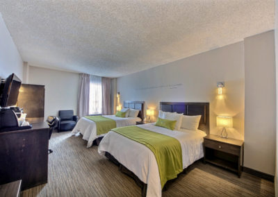 Chambre 2 lits dbl Hôtel du Jardin